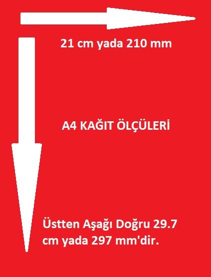 a4 kağıt ölçüsü ve boyutları
