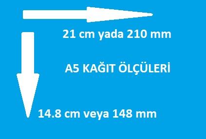 a5 kağıt ölçüleri kaç cm