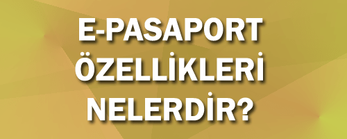 pasaport özellikleri