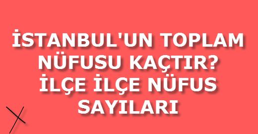 istanbul'un nüfusu